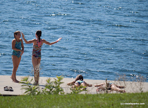 Photo: Sparkling Lake Champlain water for these friends to enjoy at Kingsland Bay State Park by Tara Schalz
