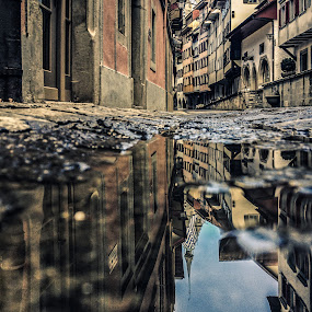 Dark Ages by Jessica Meckmann - Instagram & Mobile iPhone ( puddles, switzerland, zug, town, iphone )
