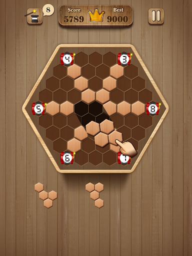 Wooden Hexagon Fit: Hexa Block Puzzle 1.0.1 screenshots 6