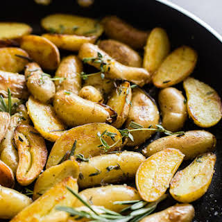 Skillet Roasted Fingerling Potatoes.