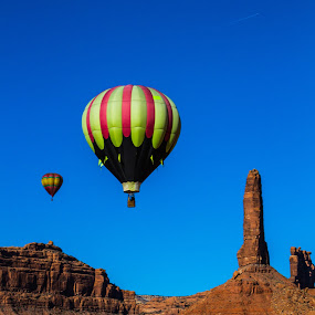 Scenic Ballooning by Josh Ewing - Landscapes Deserts ( utah, balloons )