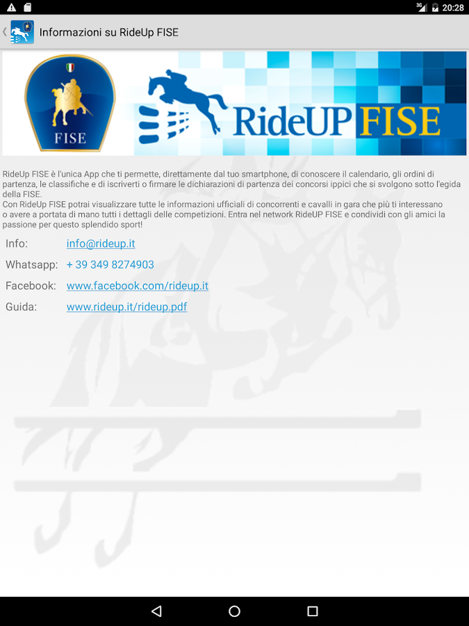 RideUp FISE- screenshot