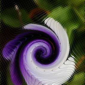 Pansy by Bozica Trnka - Abstract Patterns ( pattern, purple, abstract art, art, flower )