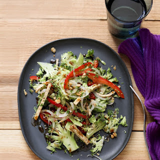 Broccoli Slaw Salad with Five-Spice Tofu