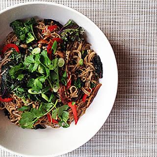 Sesame Soba Noodle + Kale Salad