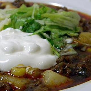 Snowy Day Taco Soup.