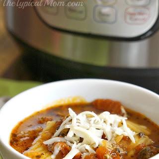 Instant Pot Lasagna Soup.