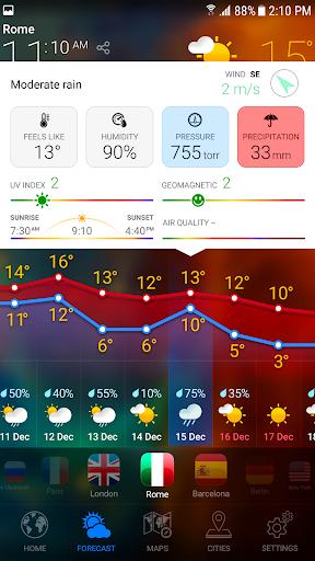 WEATHER NOW Premium US Forecast, 3D Earth & Widget  screenshots 5