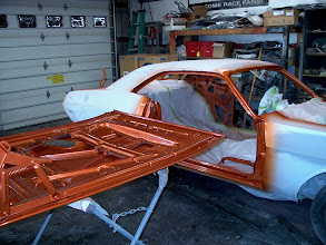 Photo: all door jambs and under side of panels painted, getting close!