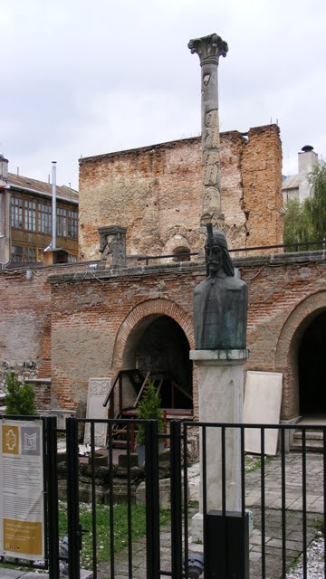 Vlad Dracula Statue in old Court Bucharest