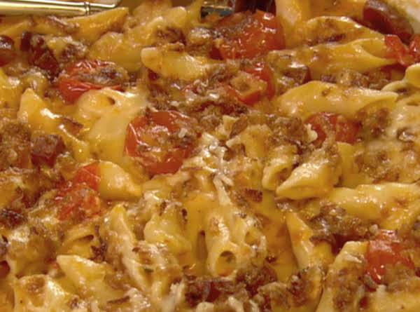 The Neely's Spicy Macaroni And Cheese With Chorizo Sausage Recipe