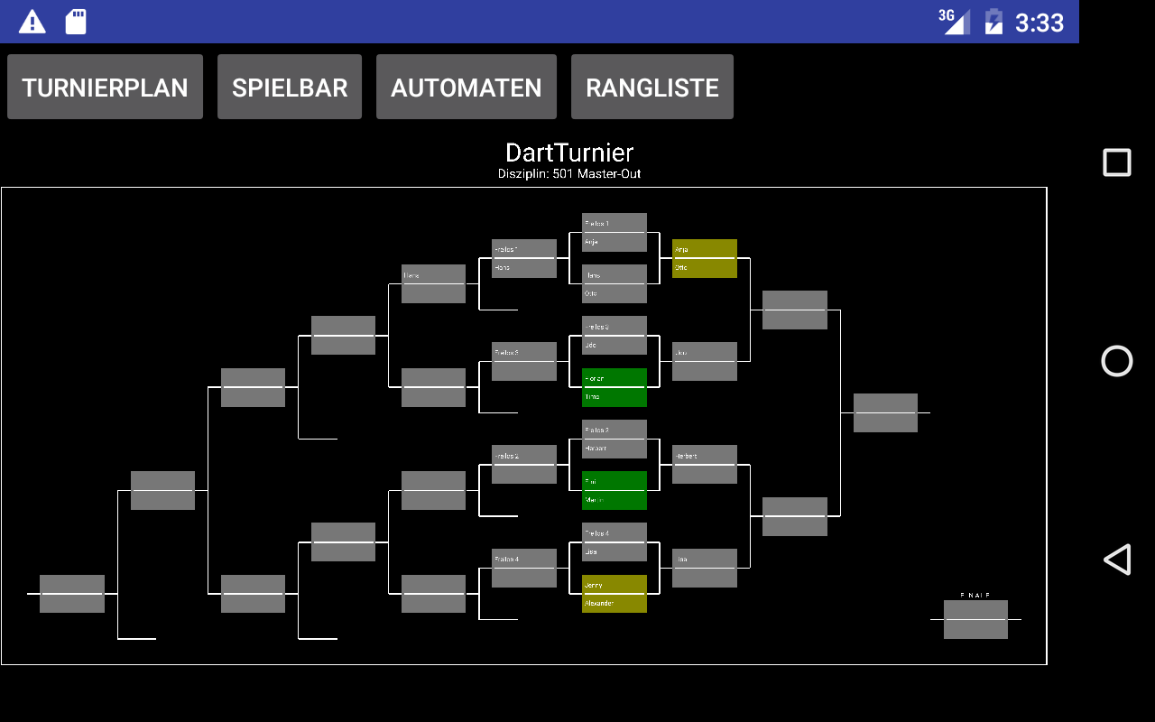 Dart Rangliste- screenshot