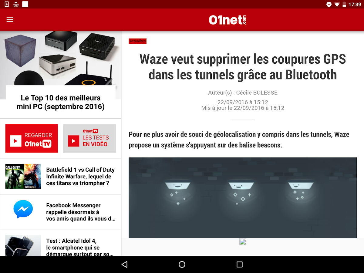 01net : toute l'info High Tech- screenshot