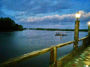 Photo: View from our dinner table at Silverio's Seafood and Restaurant