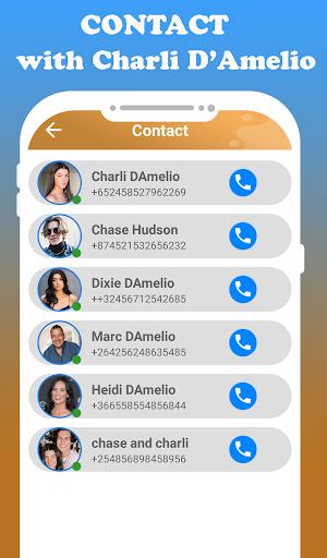 fake call Charli D'amelio  live chat video _prank screenshot 6