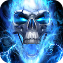 Blue Fire Skull Themes & Wallpapers icon