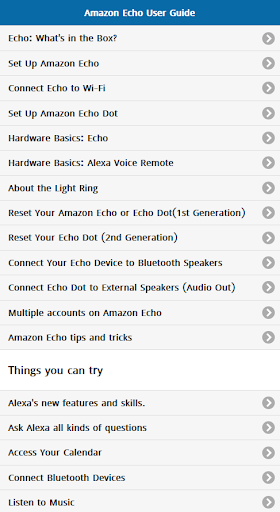 User Guide for Amazon Echo 1.0.1 screenshots 1
