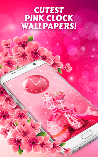 Cute Pink Analog Clock Wallpaper For Girls App Report On