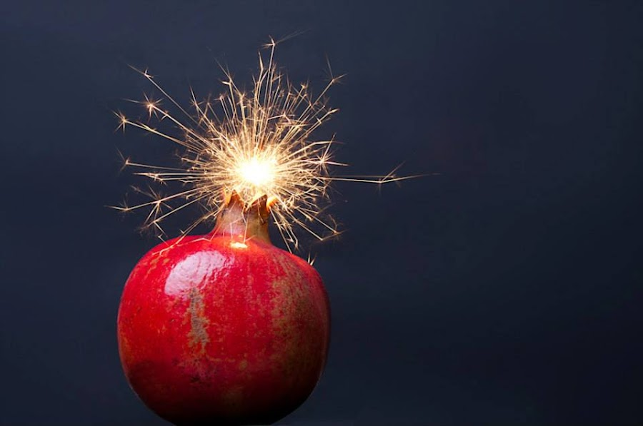 Pomegrenade by Tim Churcher - Abstract Fire & Fireworks