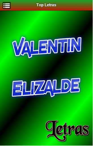 Letras Valentin Elizalde