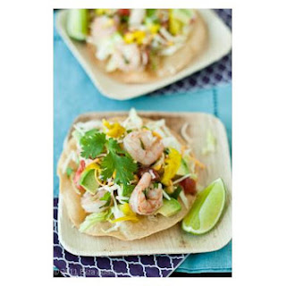 Shrimp, Corn, and Avocado Tostadas