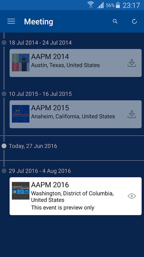 AAPM Annual Meeting- screenshot