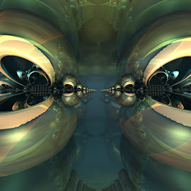 Macabre Master of Misery by Ricky Jarnagin - Illustration Abstract & Patterns ( abstract art, mandelbulb, fractal, geometric, abstract )