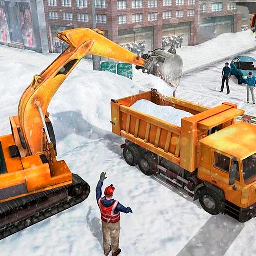 Snow Heavy Excavator Simulator
