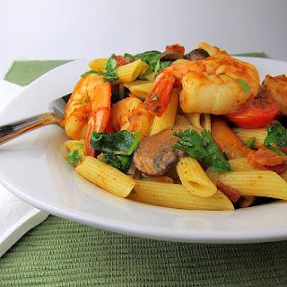 Cajun Shrimp and Vegetables Pasta