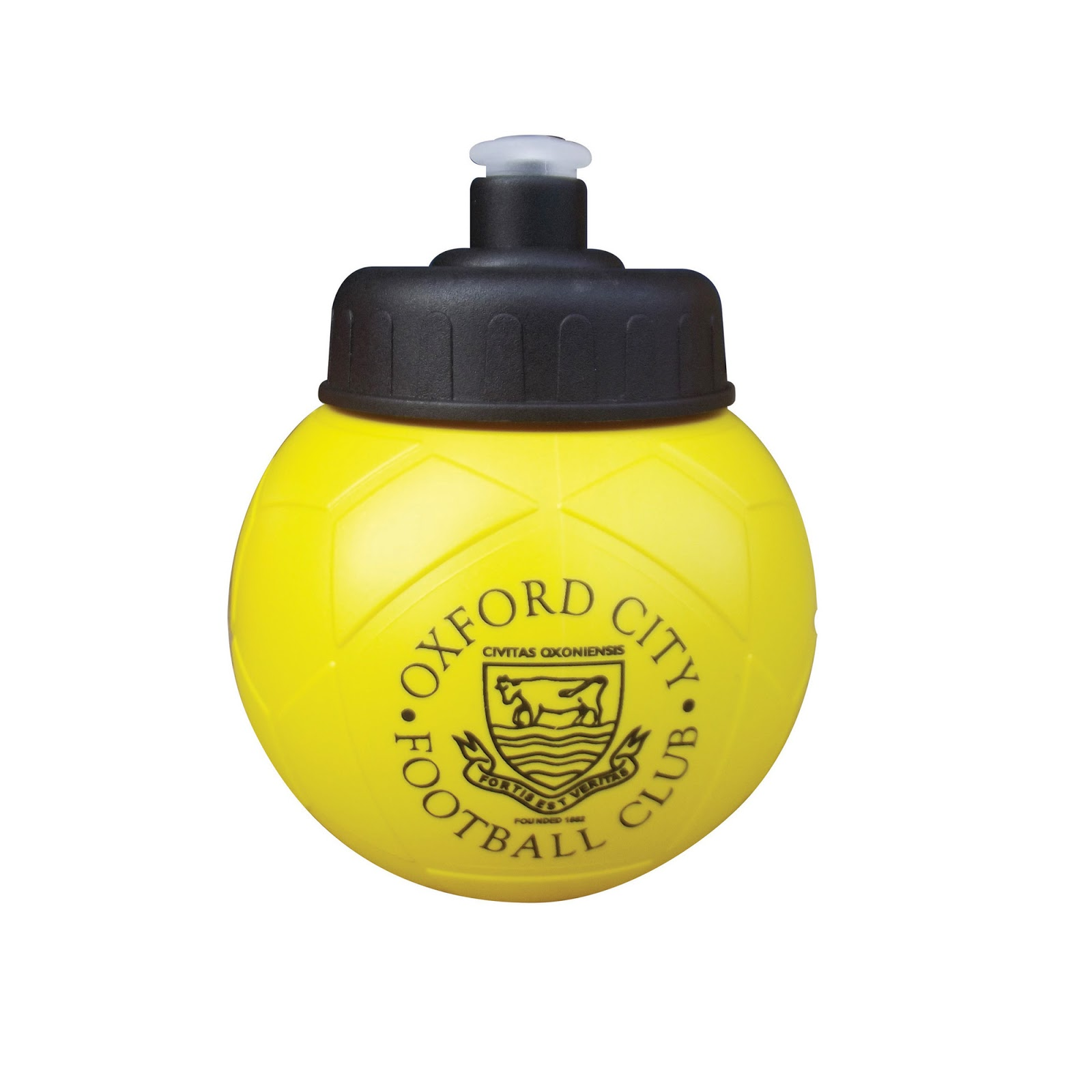 Personalised Football Drinks Bottle - Yellow