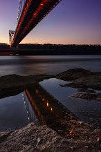 """Photo: Staring straight back at me  Went to take photos of the """"Little Red Lighthouse"""" yesterday and of course got some shots of the GW Bridge. I haven't gone through them all yet, but here's one for now :)  #bridge  #nyc  #georgewashingtonbridge"""