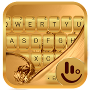 Galaxy Gold Keyboard Theme‏