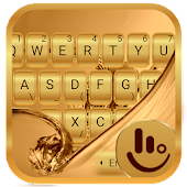 Samsung Galaxy Gold Keyboard Theme