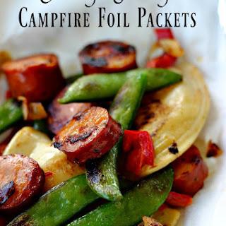 Sausage Pierogie Campfire Foil Packets.