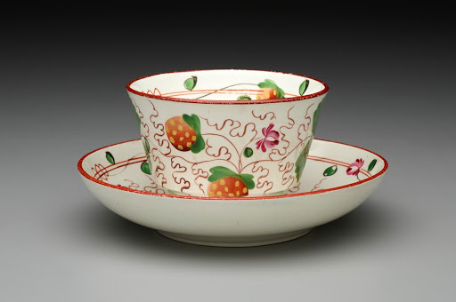 """Strawberry"" pattern cup and saucer"