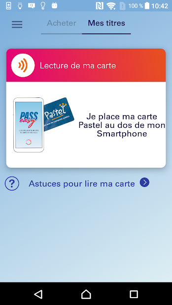 PASS easy - Tisséo - Rechargement de carte Android App Screenshot