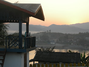 Photo: Looking back across the Mekong into Thailand
