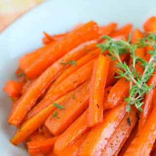 Maple Thyme Roasted Carrots.