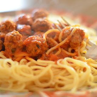 Homemade Moroccan Pasta Sauce Recipe with Mini Meatballs.