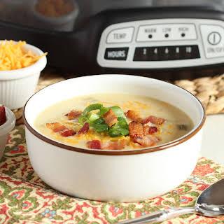 Slow Cooker Loaded Baked Potato Soup.