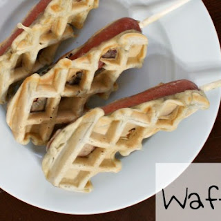 Eggless Waffle Dogs