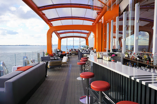 celebrity-edge-magic-carpet-bar.jpg - A look at the Magic Carpet on Celebrity Edge during its sailaway party after departing Ft. Lauderdale.