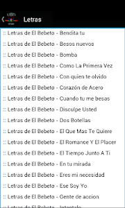 El Bebeto Letras screenshot 2
