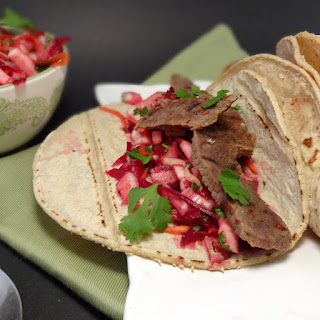 Chipotle Steak Tacos with Fennel Beet Slaw