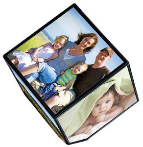 Cub rotativ cu 6 fotografii intr-o singura rama. Rotire 360 grade.