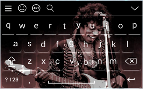 Rock  Keyboard Theme - náhled