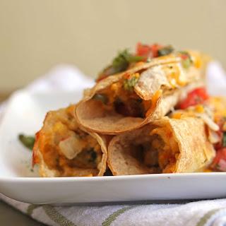 Meatless Mexican Breakfast Flautas