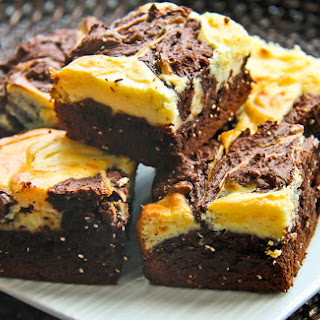 Brownies with Cream Cheese Swirl and Chia Seeds