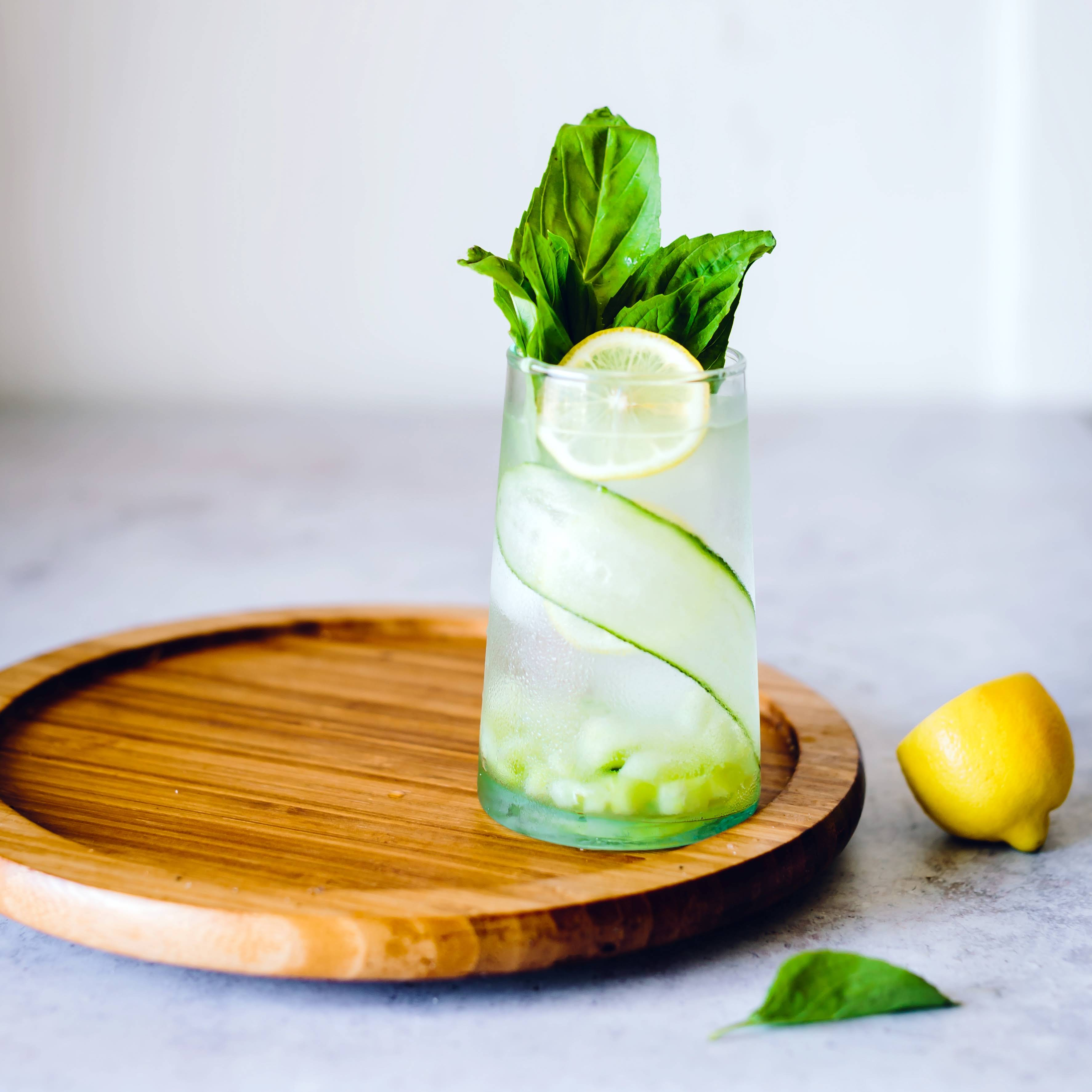 Cucumber Basil Summer Sipper