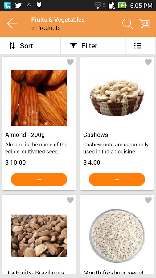 EMC Grocery App- screenshot